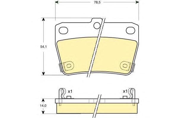 6132799 Колодки тормозные TOYOTA RAV 4 II 1.8-2.0 00-05 задние