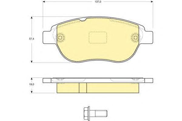 6116244 Колодки тормозные CITROEN C4/BERLINGO/FIAT DOBLO/PEUGEOT 307/PARTNER передние