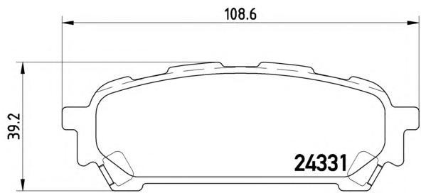 P78014 Колодки тормозные SUBARU IMPREZA 2.0 11.02- задние