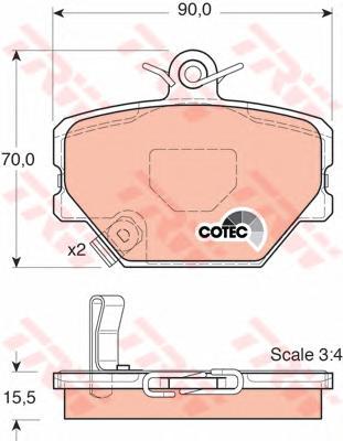 GDB1365 Колодки тормозные SMART 98- передние