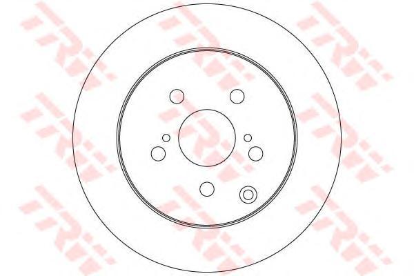 DF6319 Диск тормозной TOYOTA: VERSO 1.6/1.8/2.0 D-4D/2.2 D-4D/2.2 D-CAT 09-