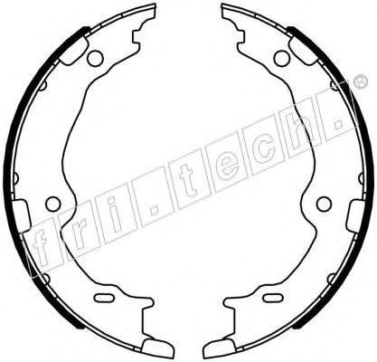 1115327 Комплект тормозных колодок, стояночная тормозная система