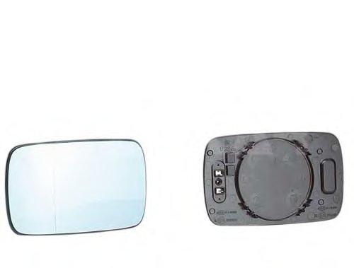 PMG0405G08 Стекло зеркала прав с подогр, асферич, тониров BMW: 3 (E36) 2D/4D - 90-00 , BMW: 5 (E34) - 91-95