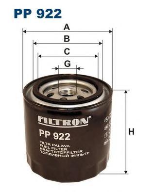 PP922 Фильтр топливный MAZDA E2200D