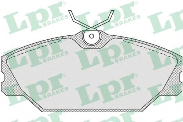 05P816 Колодки тормозные RENAULT LAGUNA 9503/MEGANE I 1.6/2.0/1.9D передние