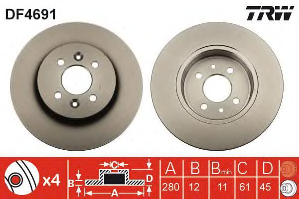 df4691 Тормозной диск