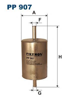 PP907 Фильтр топливный RENAULT MEGANE 1.4-2.0/HYUNDAI SANTA FE 2.0/2.4/2.7 01-