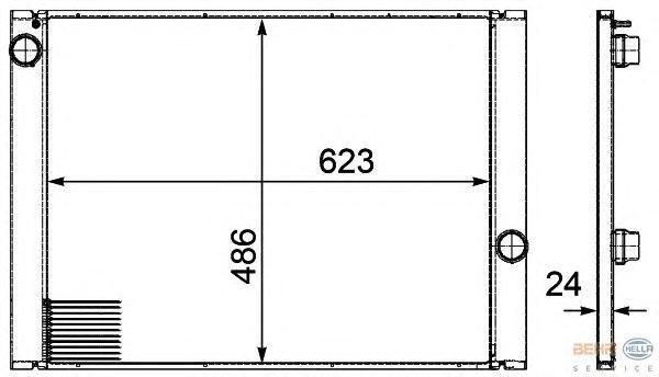 8MK376719141 Радиатор BMW E60 2.0-3.0 A/T 03-
