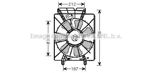 HD7533 Вентилятор кондиционера HONDA CR-V II 2.0 -06 300mm 6 лопастей