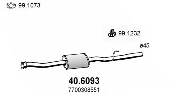 406093 Средний глушитель выхлопных газов