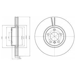 BG9063 Диск тормозной BMW X5 E70/X6 E71 передний D=348мм.
