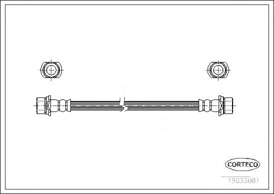 19033081 Шланг тормозной Fr TO LC90 08/00- 290мм