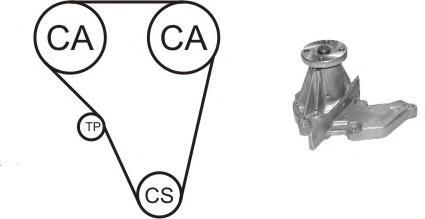 wpk410401 Водяной насос + комплект зубчатого ремня