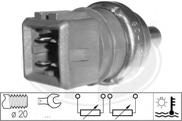330497 Датчик темпер.охл.жидк. AUDI A3/A4/A6/G4/VW PASSAT