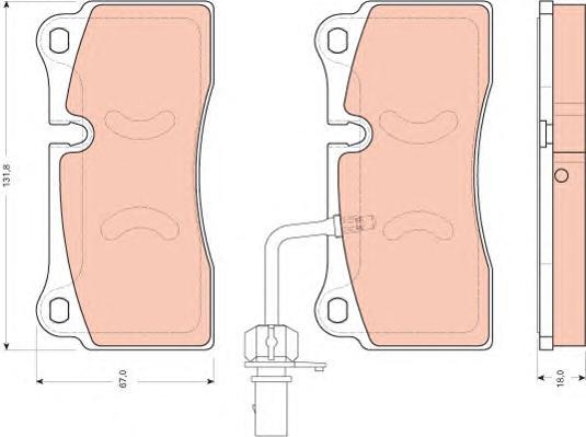 GDB1731 Колодки тормозные AUDI R8 4.2-5.2 07- задние