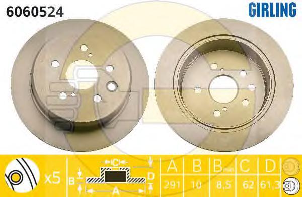 6060524 Диск тормозной LEXUS IS 2.2-2.5 05- задний