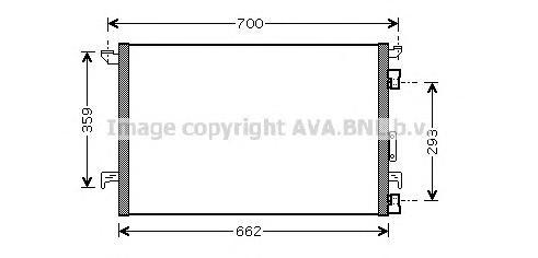 OLA5333 Конденсер OPEL VECTRA C 1.6/1.8/2.2/3.2 02-