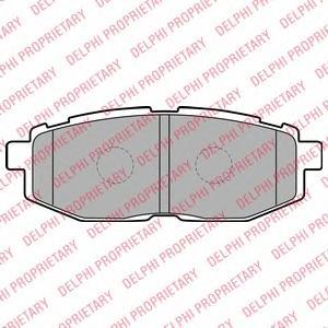 LP2076 Колодки тормозные SUBARU TRIBECA 3.0/3.6 05- задние