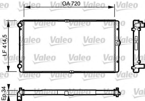 732177 Радиатор системы охлаждения VW: TRANSPORTER IV c бортовой платформой/ходовая часть (70XD) 2.5 Syncro/2.5 TDI Syncro 90-03