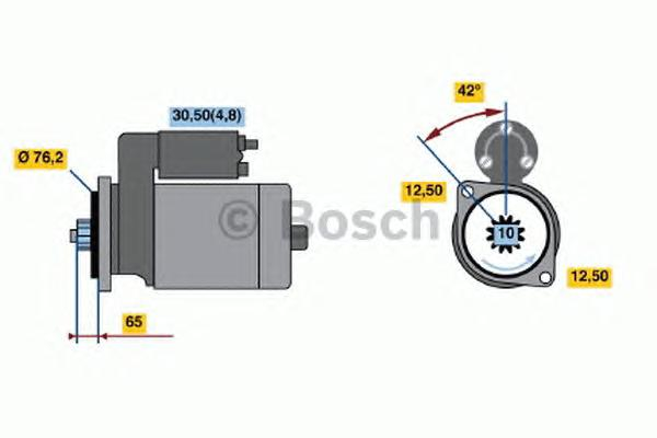 0001125605 Стартер VW T5 -09 2.5 TDI 2.2кВт