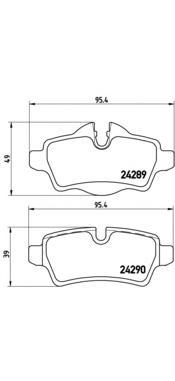 P06052 Колодки тормозные MINI COOPER 06-/ONE/CLUBMAN 07- задние