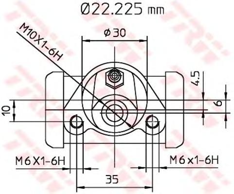 BWB111 Цилиндр торм.раб.AUDI 80/VW G3/PASSAT 76-97