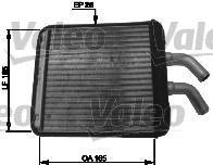 812410 Радиатор отопителя KIA: RIO (DC_) 1.3/1.5 00-05, RIO универсал (DC) 1.3/1.5 00-05