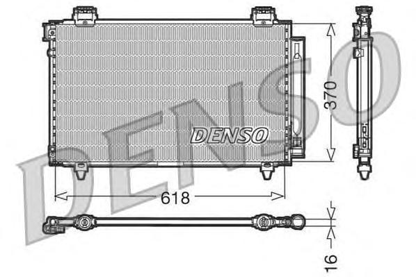 DCN50009 Радиатор кондиционера TOYOTA: AVENSIS (T25) 1.6 VVT-i/1.8/2.0/2.0 D-4D/2.0 VVTi/2.4 03 - , AVENSIS седан (T25) 1.6 VVT-