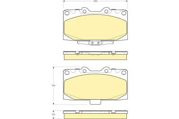 6133079 Колодки тормозные SUBARU FORESTER 2.0 98-02/IMPREZA 2.0 94- передние