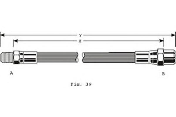9002125 Шланг тормозной MB W201/123/124/126/140 задний 310мм