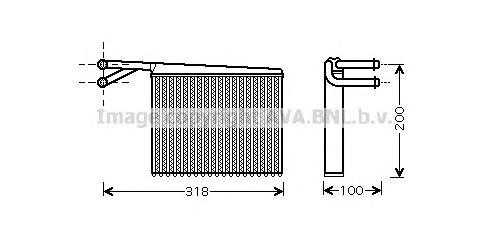 MSA6372 Радиатор отопителя MB SPRINTER 2.2D-2.9D 95-06