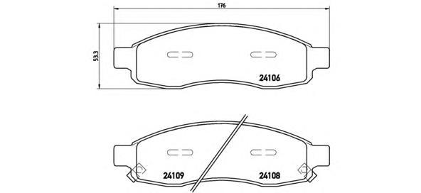 P58001 Колодки тормозные INFINITI QX56/NISSAN ARMADA/TITAN 03- передние