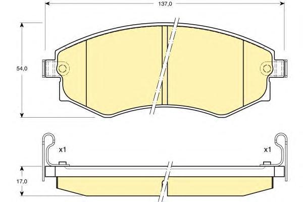 6108959 Колодки тормозные HYUNDAI ELANTRA/MATRIX/SONATA/SSANGYONG REXTON/KORANDO перед.