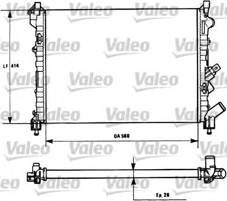731128 Радиатор системы охлаждения RENAULT: ESPACE III (JE0_) 2.0 (JE0A) 96-02, LAGUNA (B56_, 556_) 1.6 16V (B568, B561)/1.8/1.8