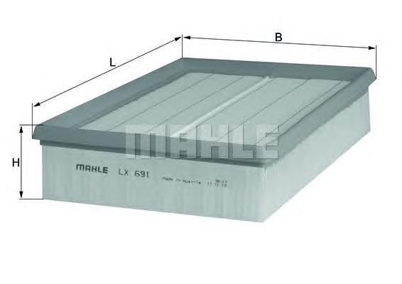 LX691 Фильтр воздушный OPEL: VECTRA B 96-02, VECTRA B хечбэк 96-03, VECTRA B универсал 96-03