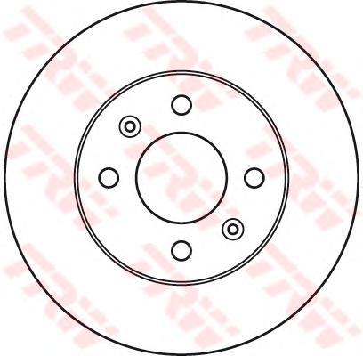 """DF6040 Диск тормозной HYUNDAI GETZ 1.1-1.6 R13"""" 02- без АБС передний вент.D=241мм."""