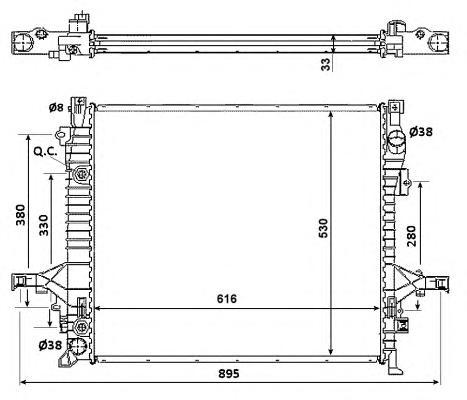 58356 Радиатор Volvo XC90 02-