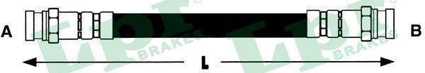 6T48184 Шланг тормозной HYUNDAI H1 97- задний правый