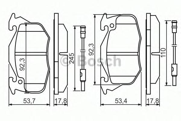 0986469860 Колодки тормозные CITROEN ZX/PEUGEOT 306/405/RENAULT 19/CLIO 90-98 перед.4 датч.