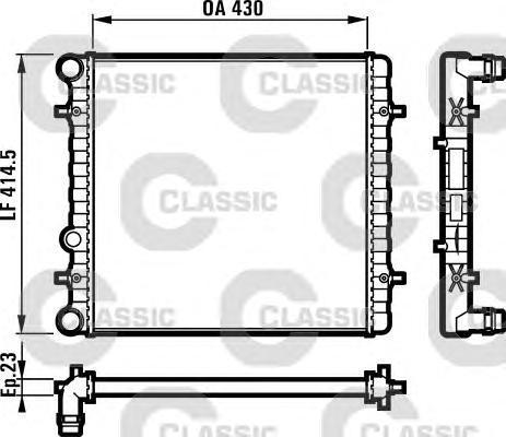 231607 Радиатор VAG G4/BORA/OCTAVIA 1.4/1.6 99-05