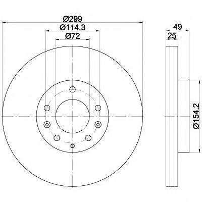 8DD355115771 Диск тормозной MAZDA 6 07 передний вент.