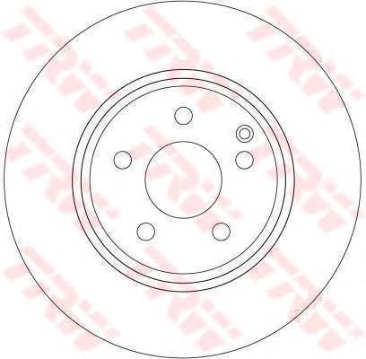 DF4264 Диск тормозной MERCEDES W211 280-500/C219 320-500 передний D=312мм.