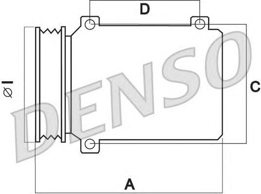 DCP23031 Компрессор кондиционера RENAULT MEGANE/SCENIC 08- 1.9DCI/2.0