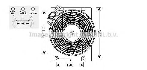 ol7508 Вентилятор, конденсатор кондиционера