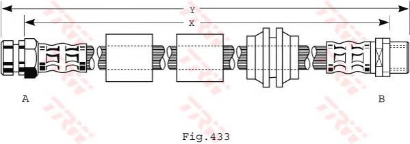 PHB440 Шланг тормозной VW: SHARAN 1.9D/2.0/2.8 00-