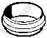 256090 Кольцо уплотнительное MB W201 2.0 83-95