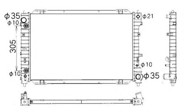 53378 Радиатор FO Mav, MA Trib 01- 3.0 АКПП