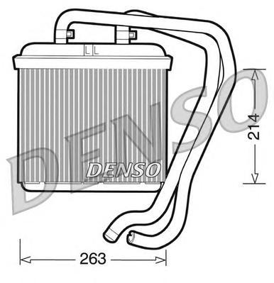 DRR12004 Радиатор отопителя IVECO DAILY 2.8 99-