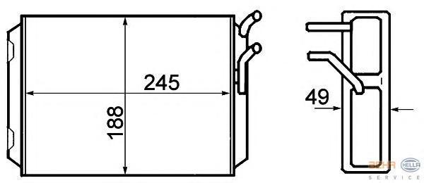 8FH351308761 Радиатор отопителя