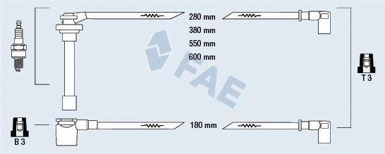 85850 Комплект проводов зажигания